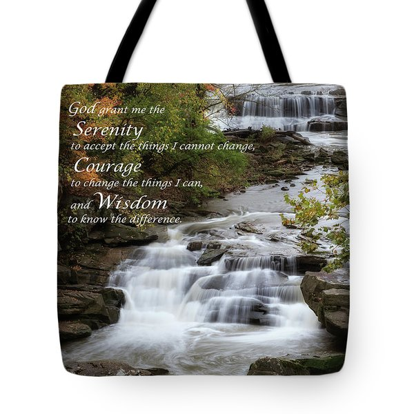 Tote Bag featuring the photograph Serenity Prayer by Dale Kincaid