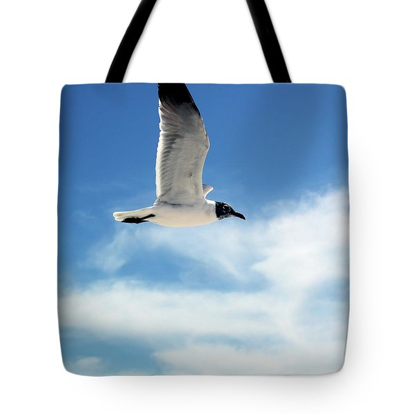 Tote Bag featuring the photograph Serenity Seagull by Marie Hicks