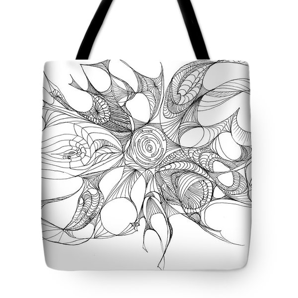Serenity Swirled Tote Bag by Charles Cater