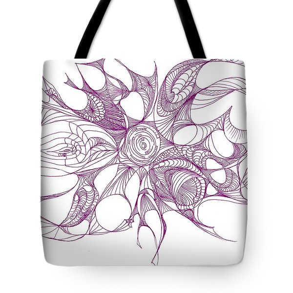 Serenity Swirled In Purple Tote Bag by Charles Cater