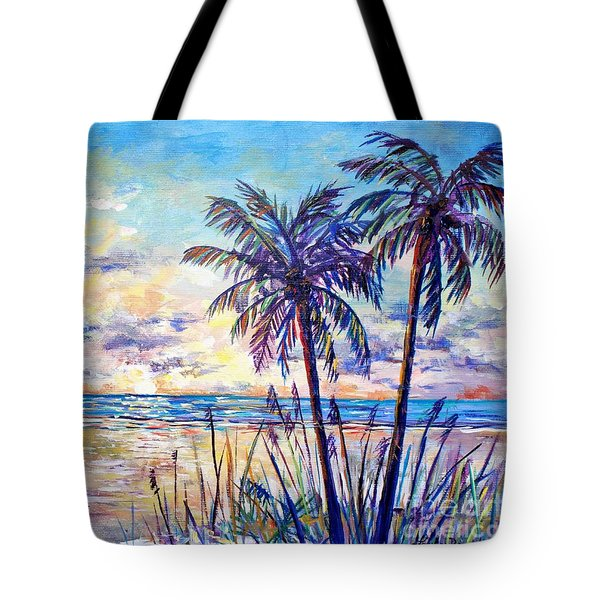 Serenity Under The Palms Tote Bag by Lou Ann Bagnall