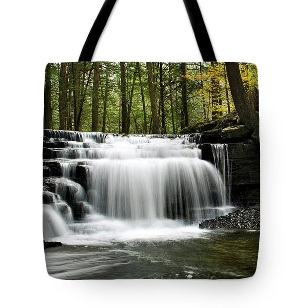 Tote Bag featuring the photograph Serenity Waterfalls Landscape by Christina Rollo