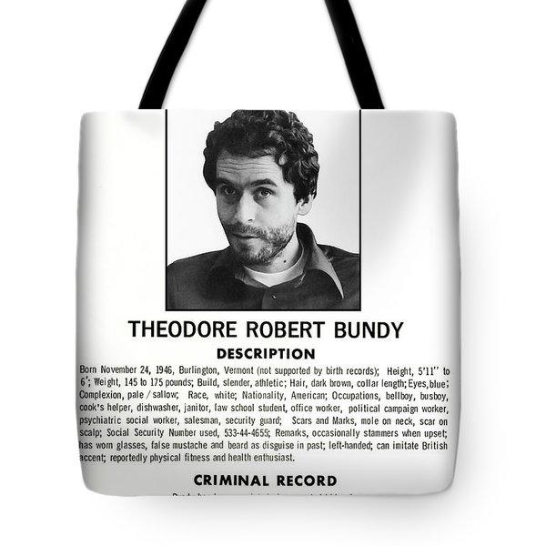 Serial Killer Ted Bundy Tote Bag