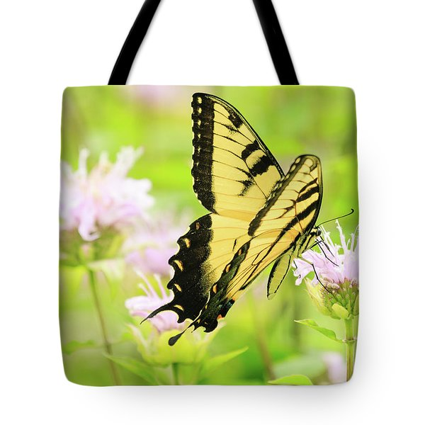 Series Of Yellow Swallowtail #4 Of 6 Tote Bag by Joni Eskridge