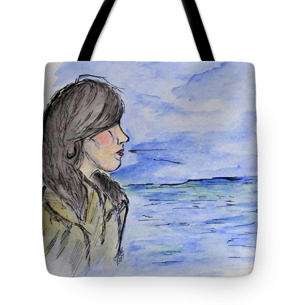 Serious Girl Tote Bag