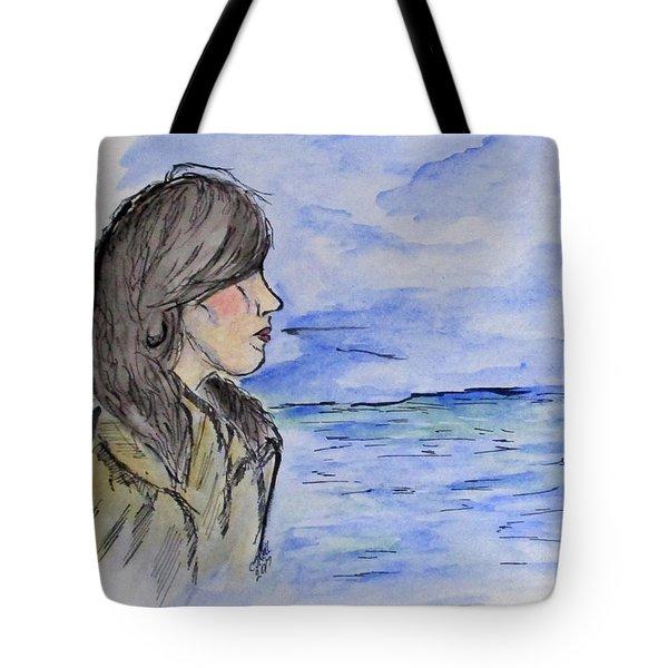 Serious Girl Tote Bag
