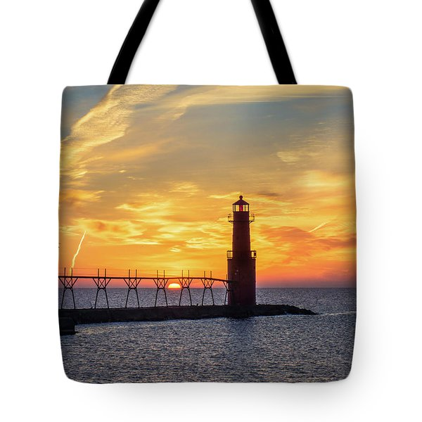 Tote Bag featuring the photograph Serious Sunrise by Bill Pevlor