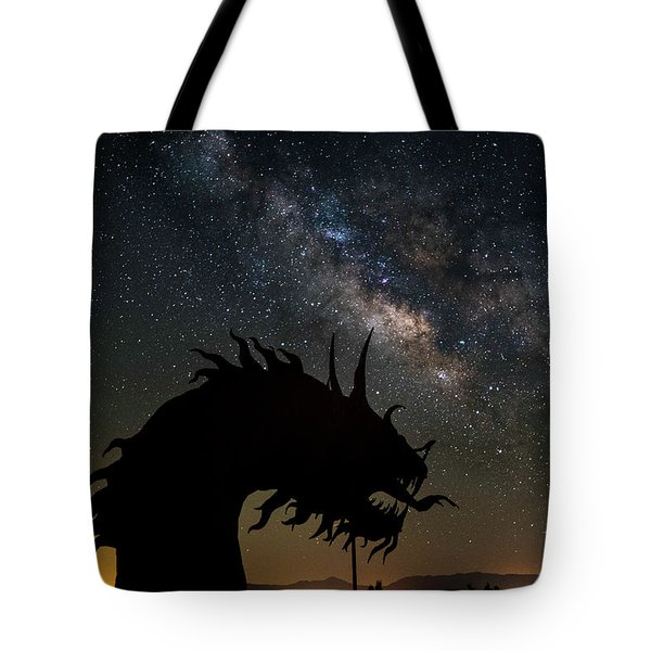 Serpent And Milky Way Tote Bag by Scott Cunningham