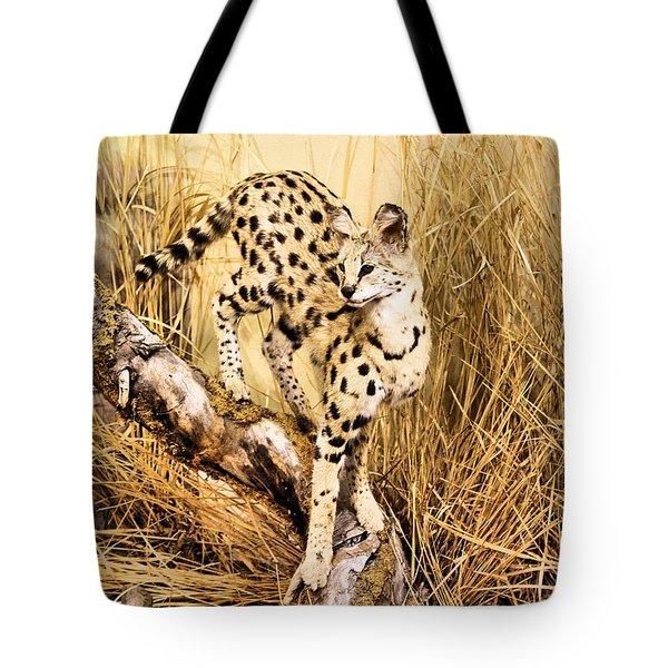 Serval Tote Bag by Kristin Elmquist