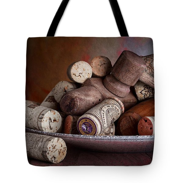 Served - Wine Taps And Corks Tote Bag