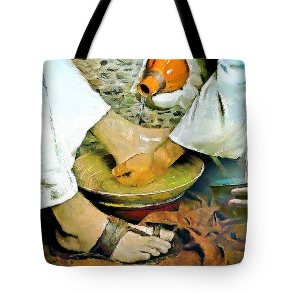 Serving One Another Tote Bag by Wayne Pascall