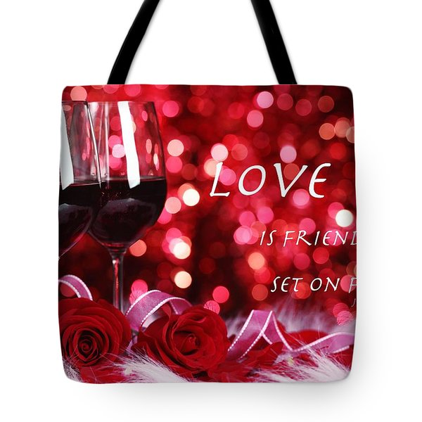 Set On Fire Tote Bag by David Norman