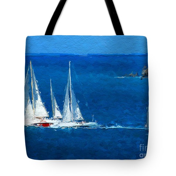 Set Sail Tote Bag by Anthony Fishburne