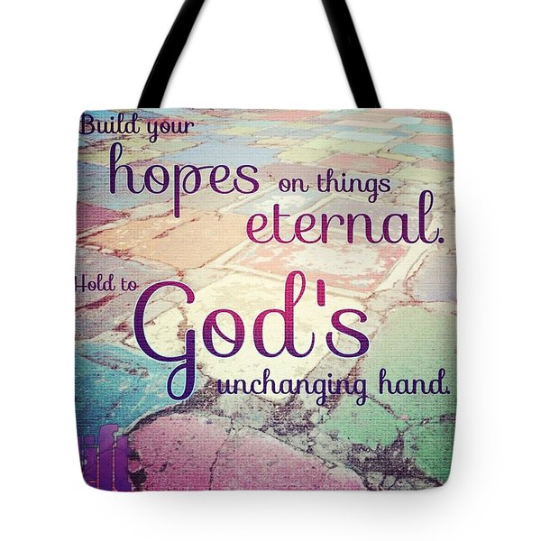 Set Your Mind On The Things That Are Tote Bag