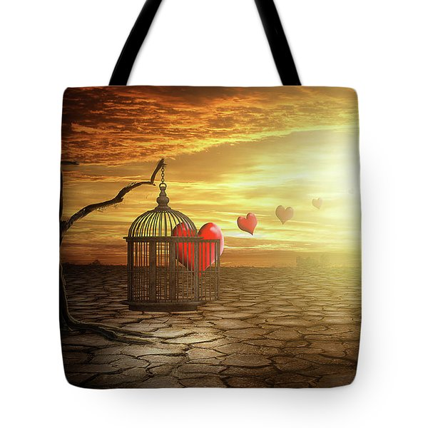 Tote Bag featuring the digital art Set Your Self Free by Nathan Wright