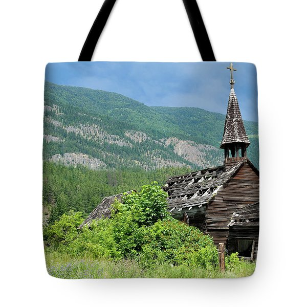 Tote Bag featuring the photograph Seton Portage Church 2 by Rod Wiens