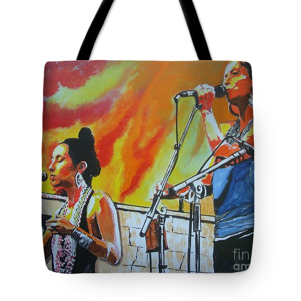 Setting Asheville On Fire Tote Bag