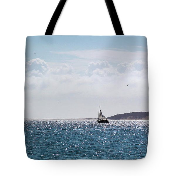 Tote Bag featuring the photograph Setting Sail by Michelle Wiarda