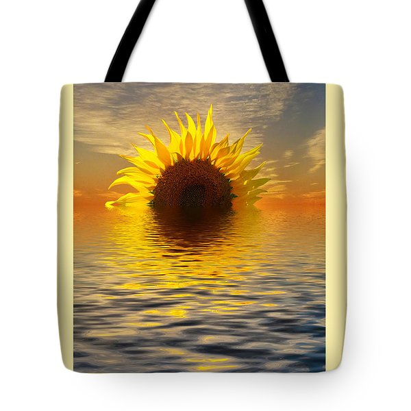 Setting Sun-flower Note Card Tote Bag by Geraldine Alexander