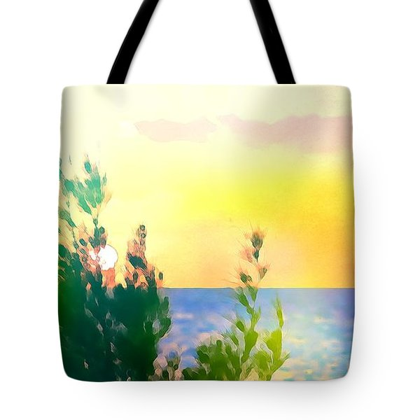 Pastel Colors On The Atlantic Ocean In Cancun Tote Bag