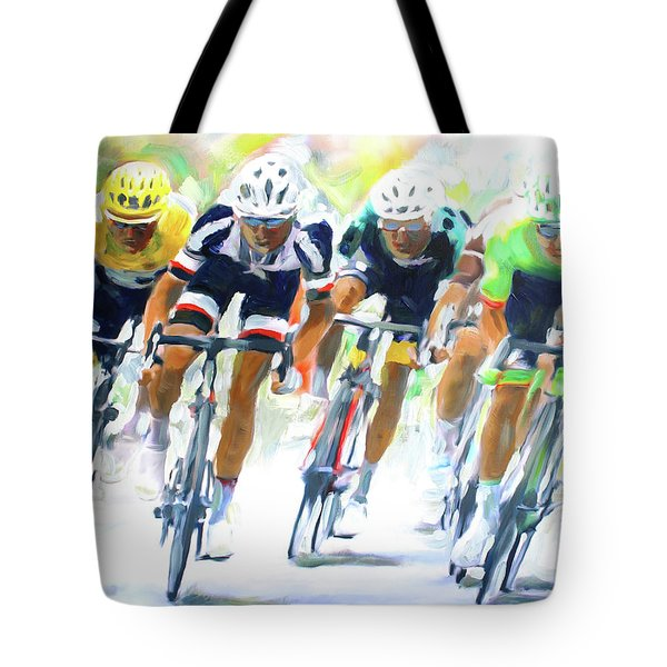 Setting The Pace Tote Bag