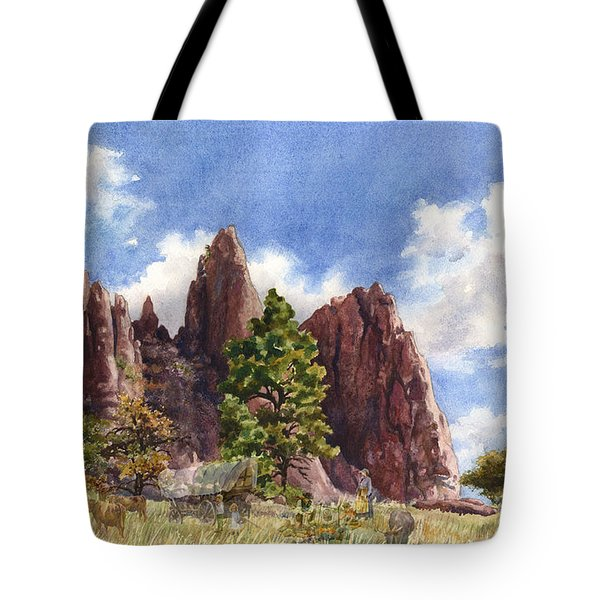 Settler's Park, Boulder, Colorado Tote Bag by Anne Gifford
