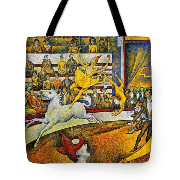 Seurat: Circus, 1891 Tote Bag by Granger
