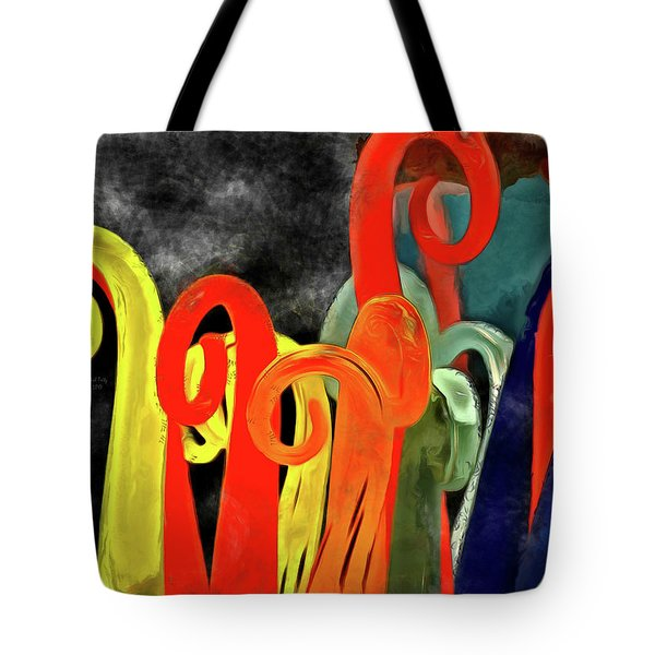 Tote Bag featuring the mixed media Seuss' Canes by Trish Tritz