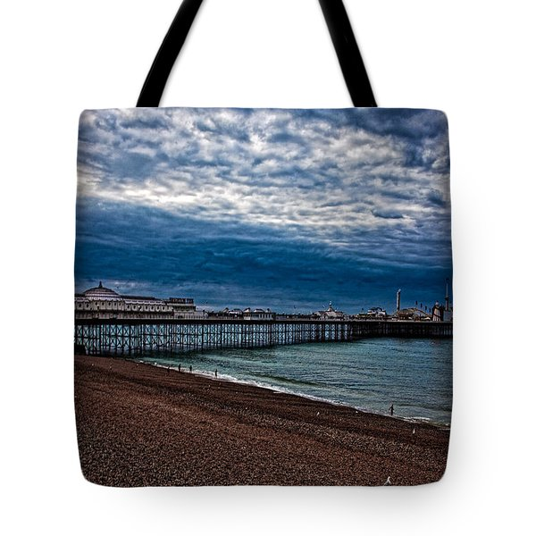Seven Am On Brighton Seafront Tote Bag
