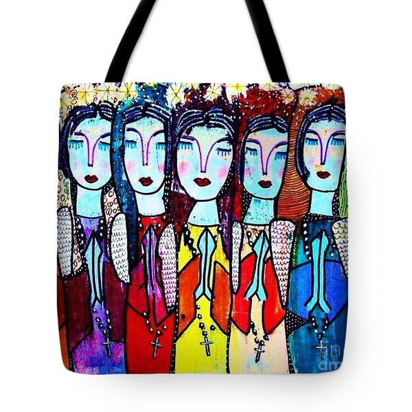 Seven Blue Spanish Angels Tote Bag
