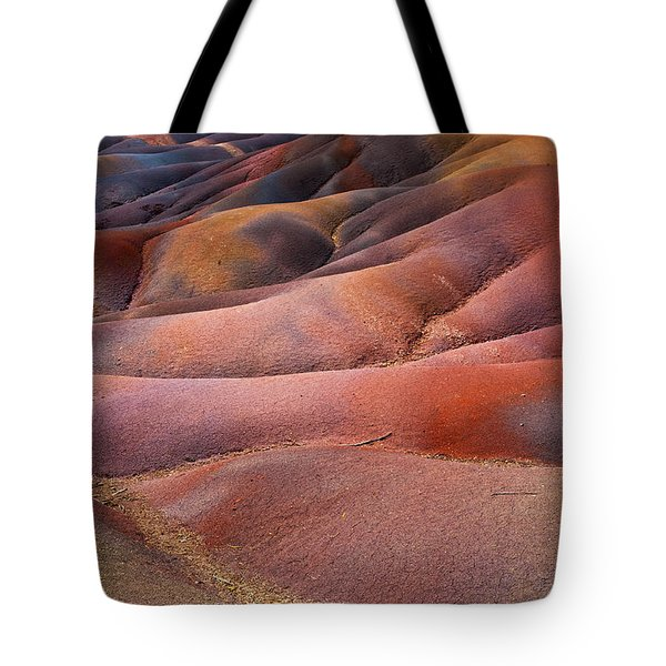 Seven Colored Earth In Chamarel 8. Series Earth Bodyscapes. Mauritius Tote Bag