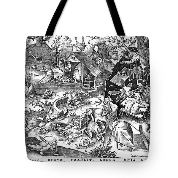 Seven Deadly Sins: Sloth Tote Bag by Granger