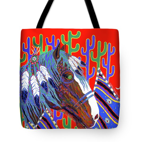 Tote Bag featuring the painting Seven Feathers by Debbie Chamberlin
