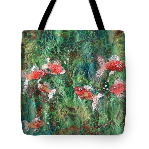 Seven Little Fishies Tote Bag