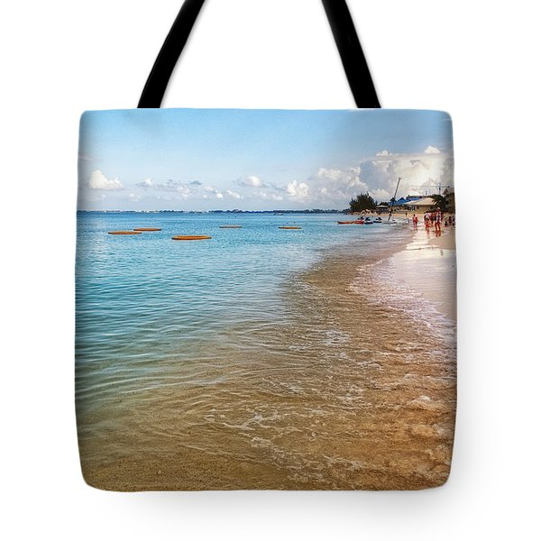 Tote Bag featuring the photograph Seven Mile Beach by Lars Lentz