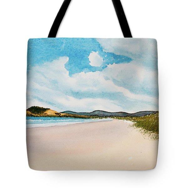 Seven Mile Beach On A Calm, Sunny Day Tote Bag