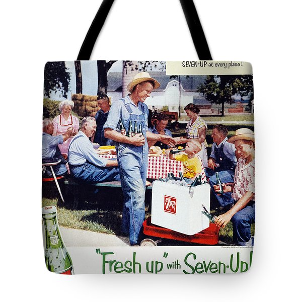 Seven-up Soda Ad, 1954 Tote Bag by Granger