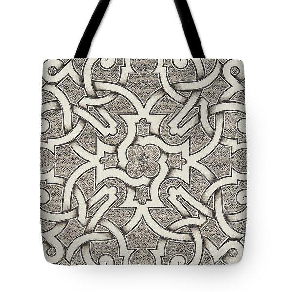 Seventeenth Century Design For Parterre Tote Bag