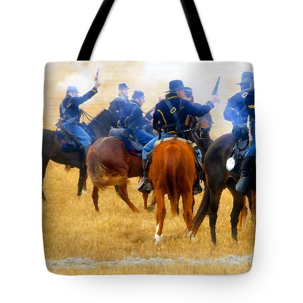 Seventh Cavalry In Action Tote Bag by David Lee Thompson