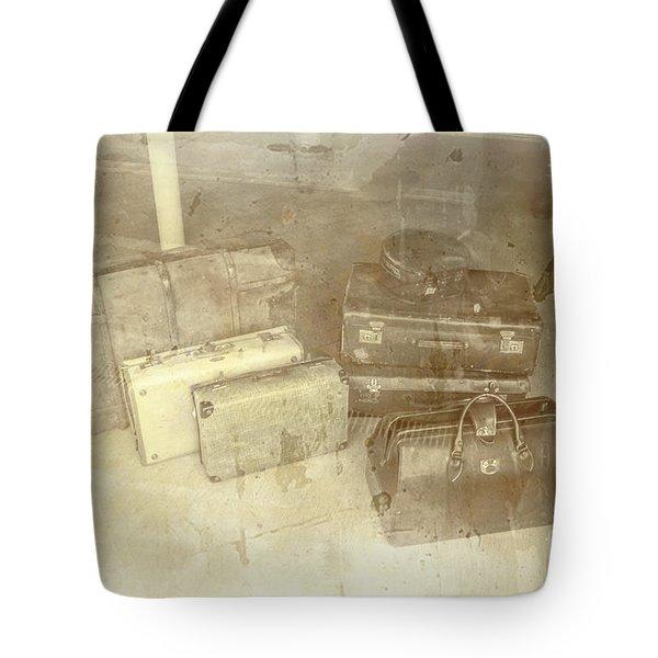 Several Vintage Bags On Floor Tote Bag
