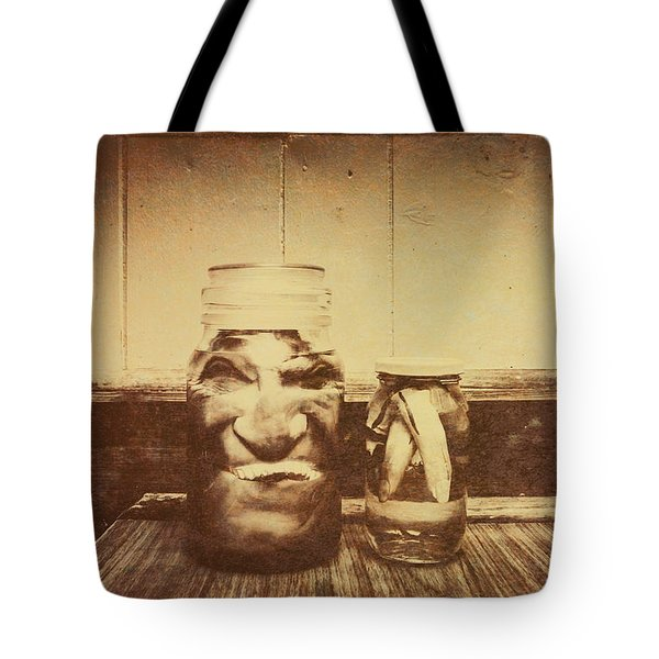 Severed And Preserved Head And Hand In Jars Tote Bag