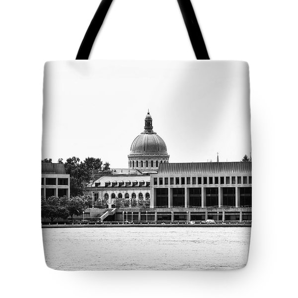 Severn River View Of United States Naval Academy Tote Bag