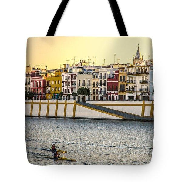 Seville - Sunset In Calle Betis Tote Bag