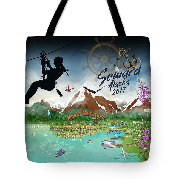 Tote Bag featuring the digital art Seward, Ak Tote 2017 by Cindy Anderson