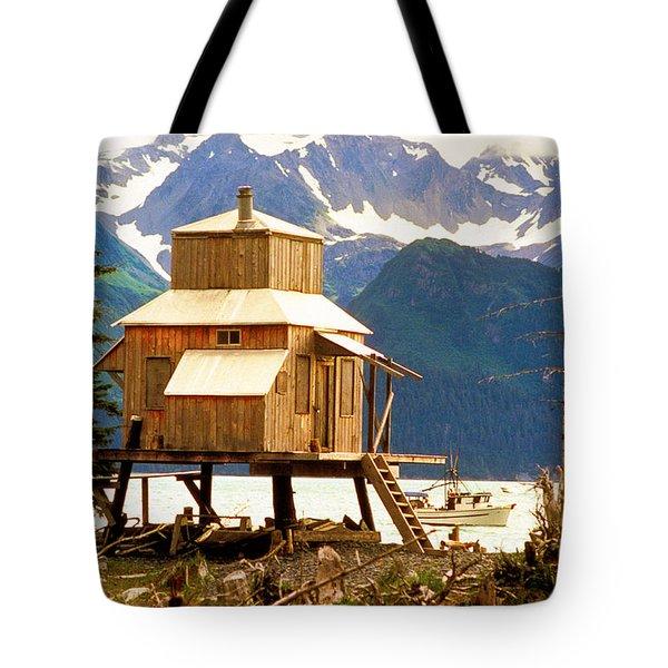 Seward Alaska House Of Stilts Tote Bag by James BO  Insogna