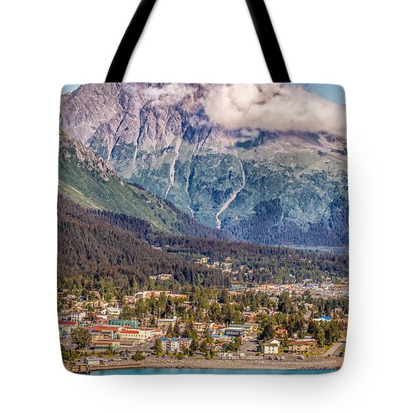 Tote Bag featuring the photograph Seward Alaska by Michael Rogers