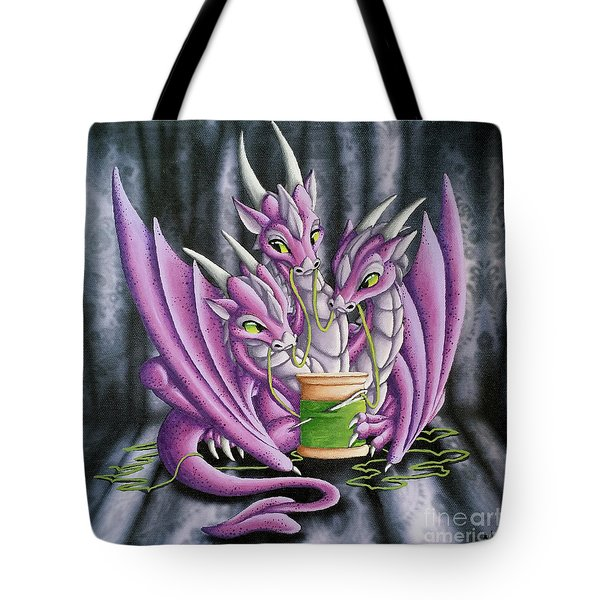 Sewing Dragons Tote Bag