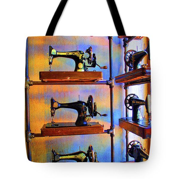 Sewing Machine Retirement Tote Bag by Jost Houk