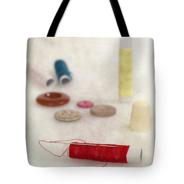 Sewing Supplies Tote Bag by Joana Kruse