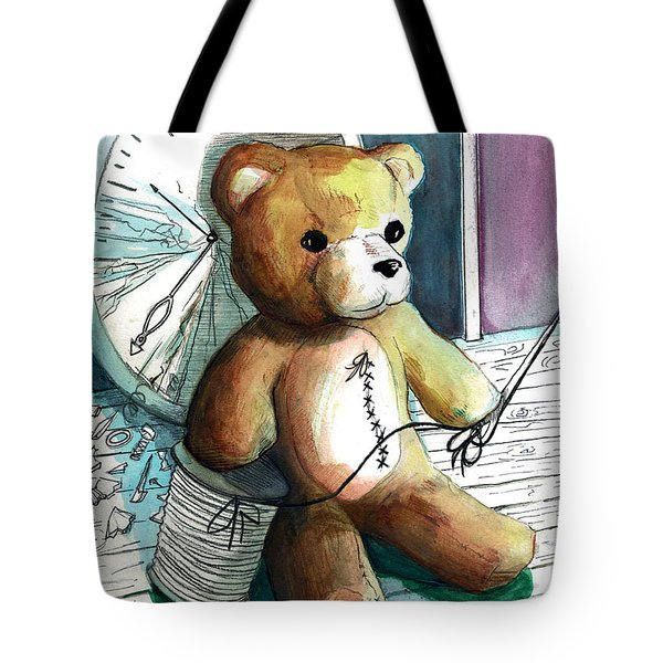 Sewn Up Teddy Bear Tote Bag